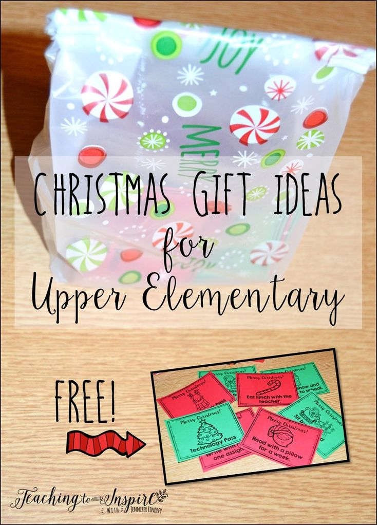 Christmas Gift Ideas for Upper Elementary. Read about what I give my upper elementary students as Christmas gifts and grab a free set of student gift passes.