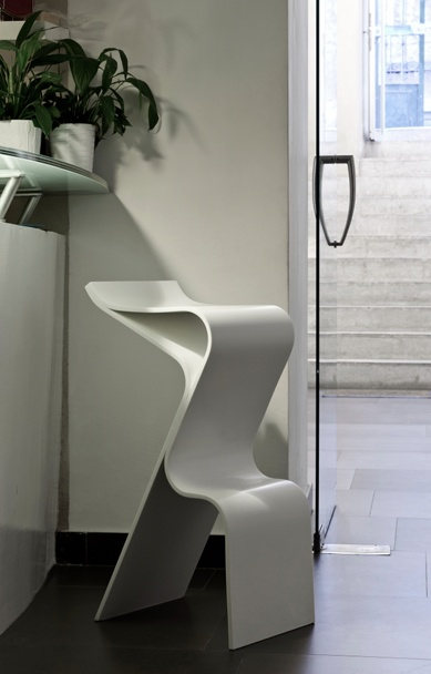 Swan corian stool