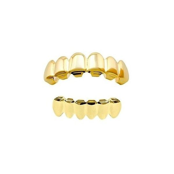 Gold ❤ liked on Polyvore featuring jewelry, items, accessories, extra, grill, gold jewellery, yellow gold jewelry, body jewelry, body jewellery and gold jewelry