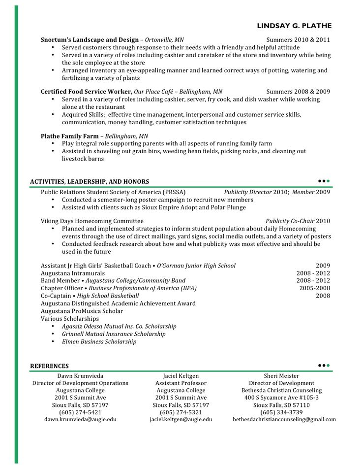 308 best resume examples images on Pinterest Resume templates - restaurant server resume templates