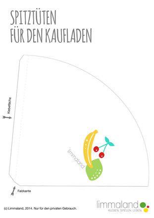 Obsttüten für den Kaufladen selber basteln - Limmaland - Kleben. Spielen. Leben.