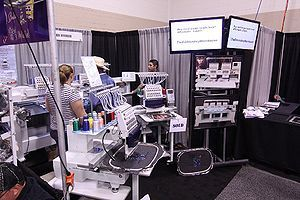 TheEmbroideryWarehouse at the ISS Show.  We buy and sell new and used commerical embroidery machines  www.TheEmbroideryWarehouse.com