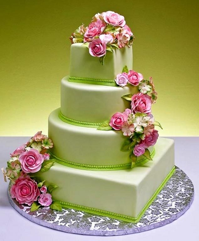 green wedding cake design 17 best ideas about green wedding cakes on 14970
