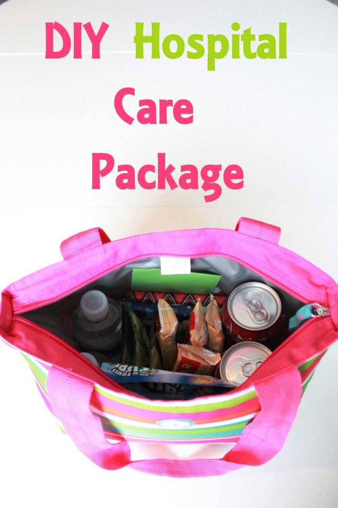 DIY Hospital Care Package (using a dollar store insulated bag)