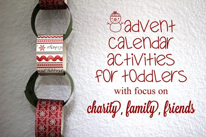 Family Traditions - Advent Calendar Activities