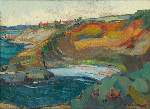 Emily CARR. Chemainus Bay, Vancouver Island [oil on paperboard], 1924-1925.