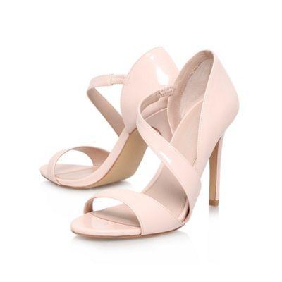 Carvela Nude 'gee' high heeled strappy court shoe- at Debenhams.com