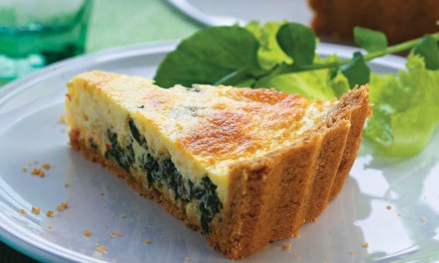 Receita de Cheesecake de espinafre - Torta salgada e quiche - Dificuldade: Fácil - Calorias: 322 por porção