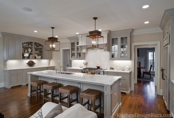 Finding ideas for gray kitchen interior? Then get traditional grey kitchen designs, ideas, kitchen cabinets, pictures and kitchen decor in gray color.