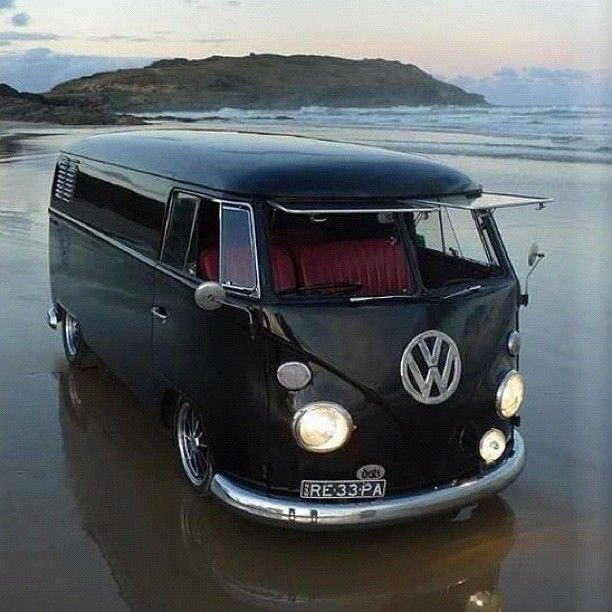 My VW Camper Van: RE 33 PA VW Black
