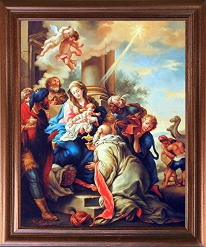 Mary with Child Ruben Religious Christian Brown Rust Wall