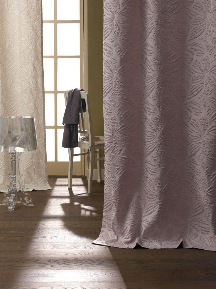 ADO Dessin Dahlia Jacquard Stoff Fabric Gardine Vorhang