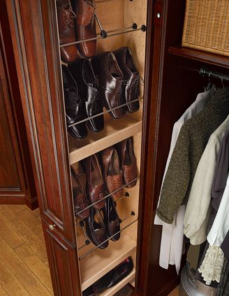 Hunt Club Valet   Traditional   Closet   Houston   Cabinet Innovations   Tall Pull Out Tower With Partition Offset