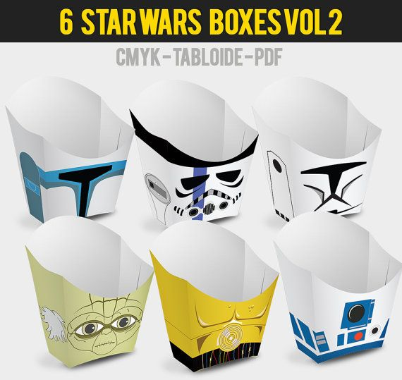 6 Popcorn Box Star Wars Vol 2 by Migueluche on Etsy