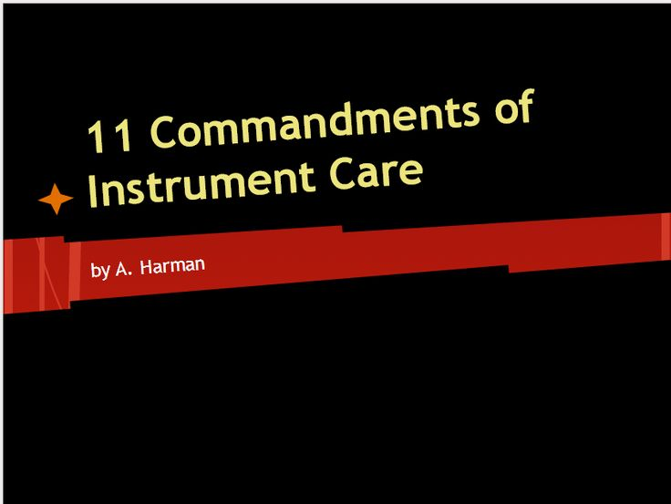 Free presentation for my beginning orchestra class about instrument care.