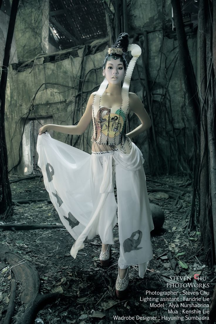 Indonesian wayang kulit inspired fashion