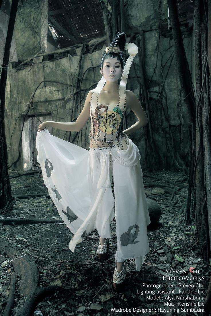 Indonesian wayang kulit inspired fashion