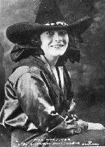 Fox Hastings was one of the first and only female bulldoggers in rodeo history. Her fastest time was 17 seconds, a record she set in 1924.    Born Eloise Fox, she ran away from her California home at the age of 14 to begin her career riding bucking horses and trick riding. Joining Irwin Brother's Wild West Show she rode on one of the fastest running trick riding horses performing at that time.