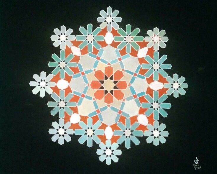My work  Find more on my facebook page: mariaramoulart #islamicart #islamicgeometry #geometry #geometricaldesign #design #art #mariaramoul #mariaramoulart
