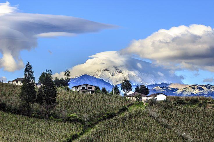 vista del Chimborazo desde San Miguel en la prov. de Bolivar