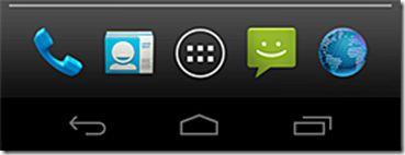 Telefono Android Icona telefono scomparsa nella barra menu
