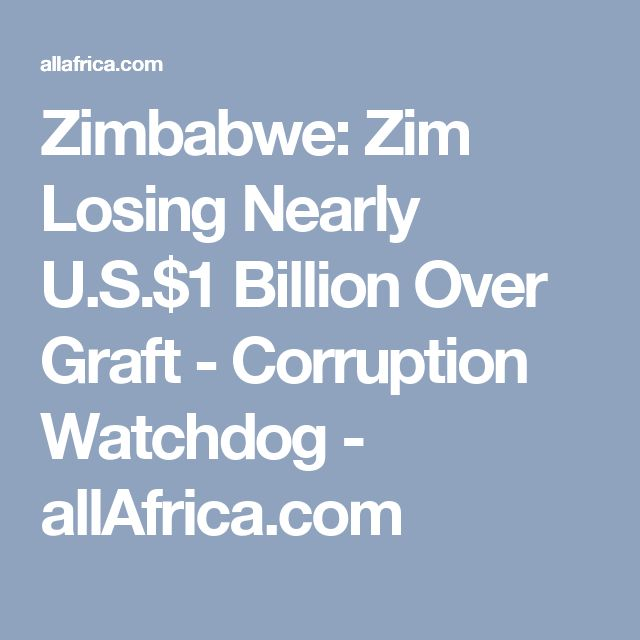 Transparency International Zimbabwe (TIZ) has reportedly claimed that Zimbabwe is losing at least $1bn to corruption, adding that police and government officials are the worst offenders. Local councils, the vehicle inspection department which issues licences, the department of education and the police, were among the worst corrupt institutions in Zimbabwe.
