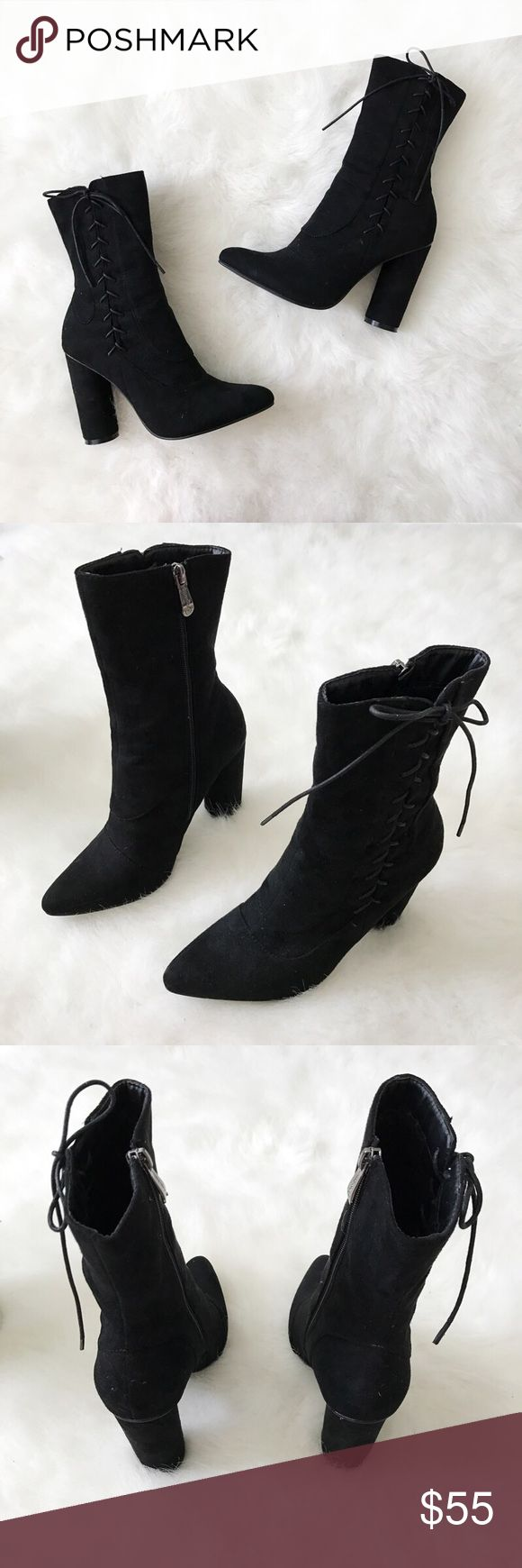 Soft Heel Black Booties🖤 Soft Heel Black Booties🖤 Cape Robin Shoes Ankle Boots & Booties