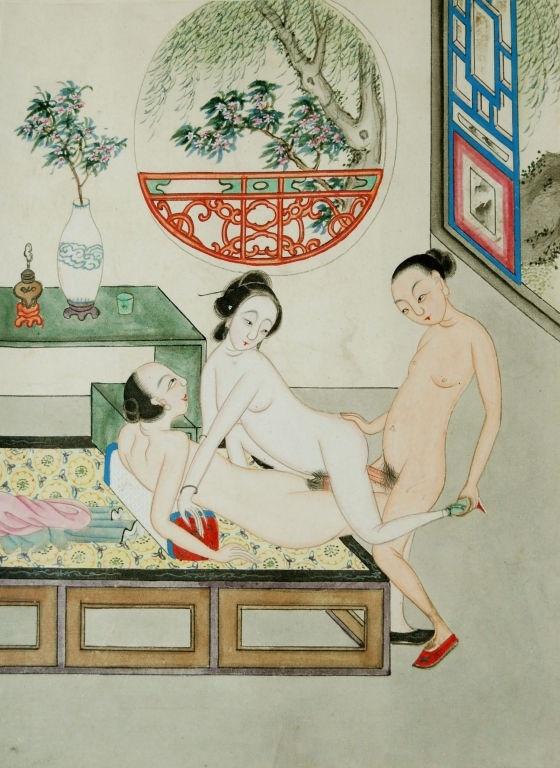 Chinese fucking bed scene