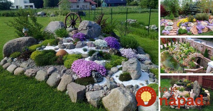 Chcete v záhrade skalku? 35 prekrásnych nápadov, ktoré určite oceníte!