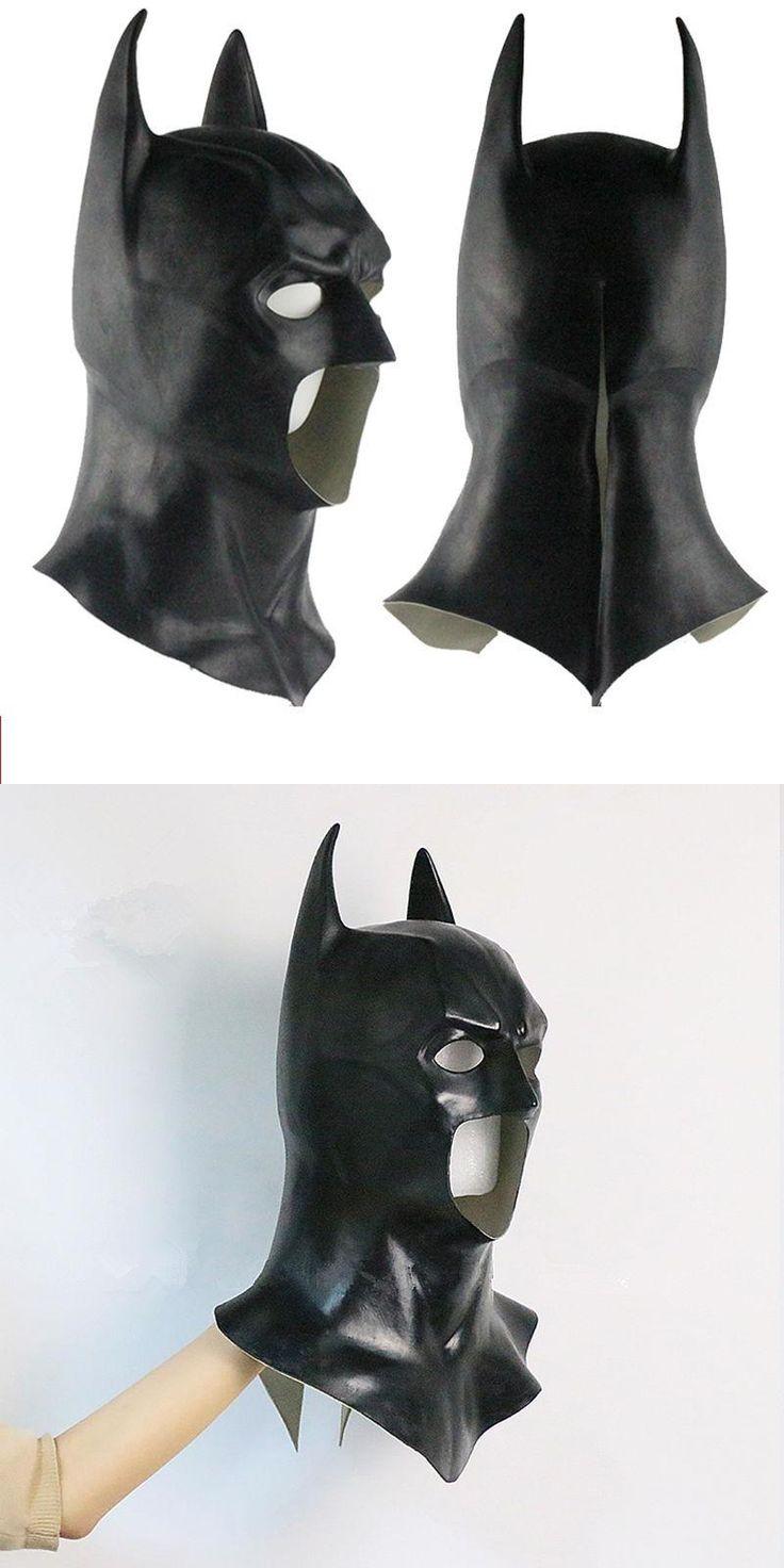 [Visit to Buy] Batman Arkham Knight Mask Overhead Dark Knight Adult Latex Full Mask Hood Silicone Halloween Party Black Cosplay Avengers #Advertisement