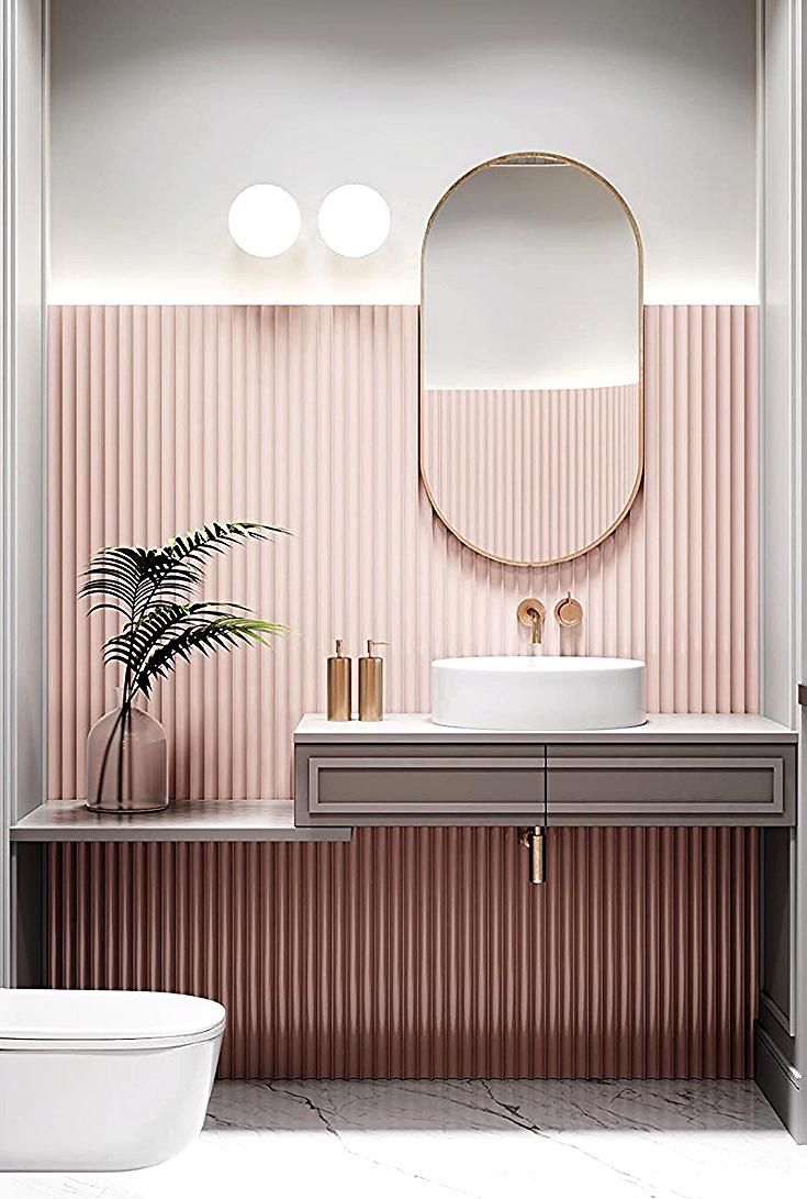 Idee Deco La Vie En Rose En 2020 Decoration Petite Salle De Bain Interieur Salle De Bain Idee Salle De Bain