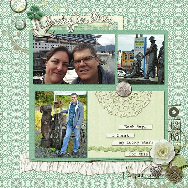 Layout by CT Stefanie with My Lucky Stars - Click on image to see the kits and bundle.