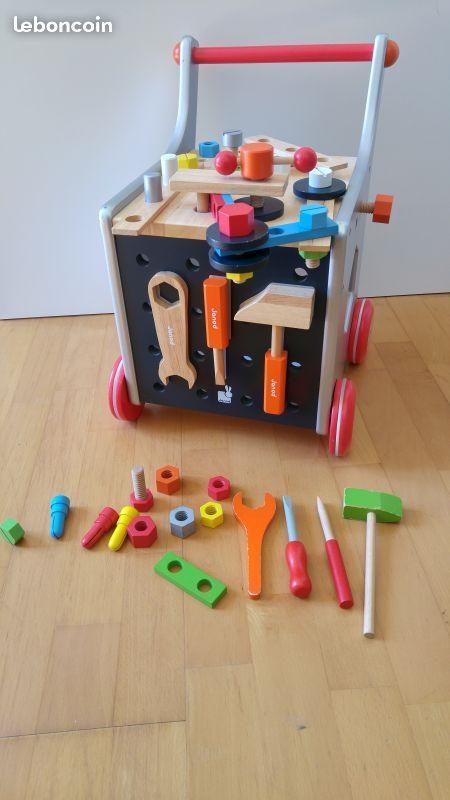 Chariot à outils Janod Bricolo - Etabli mobile.