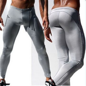 Liked on Pinterest: Fashion 2015 Mens Compression Pants Sport Long Sexy Tight Pants  Low Rise Elastic Running Tights Men Black Mens Boys Joggers -in Casual Pants from Men's Clothing & Accessories on Aliexpress.com | Alibaba Group