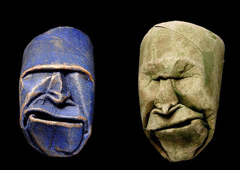 I LOVE these! Origami Toilet Paper Roll Masks by Fritz Junior Jacquet