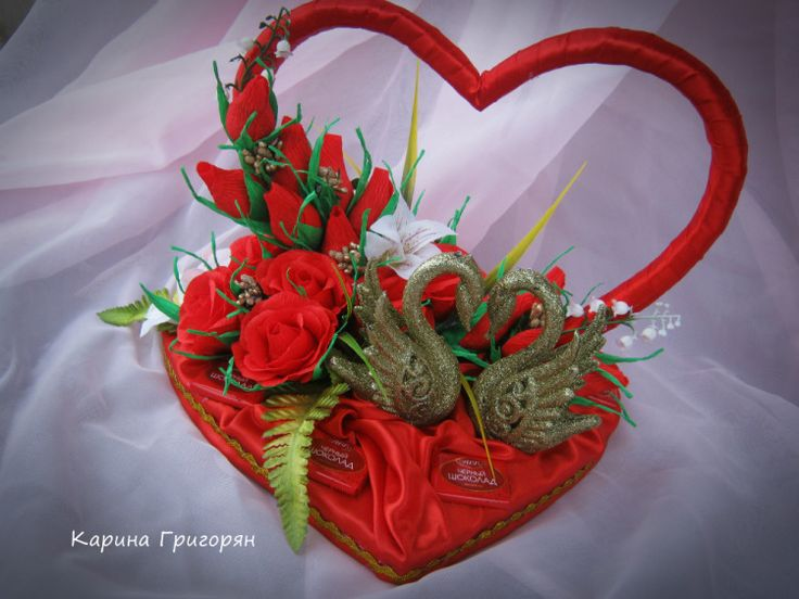 """Gallery.ru / Сердечная композиция """"Лебединая верность"""" - Сладкое ко дню влюбленных - grigoran-karina"""