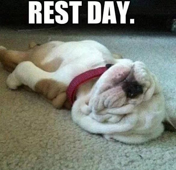 After a pretty full on week of exercise this is the way I'll be rolling today!!
