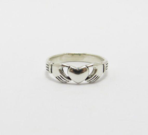 Anillo de Claddagh plata Claddagh anillo Claddagh por VorobevStudio