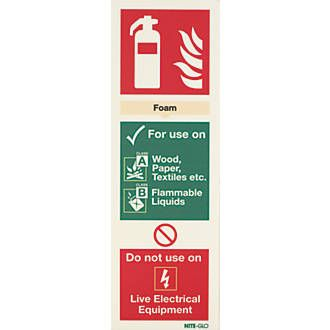 Nite-Glo Foam Extinguisher Sign 300 x 100mm 26599 Photoluminescent fire sign provides high visibility to clearly mark escape routes, exits and fire equipment in the event of a power failure. Suitable for indoor or outdoor use. Easily punched or drill http://www.MightGet.com/april-2017-1/nite-glo-foam-extinguisher-sign-300-x-100mm-26599.asp