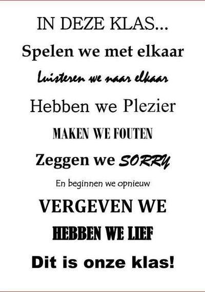 Bekijk de foto van inekehl met als titel leuke tekst voor bij d eklas en andere inspirerende plaatjes op Welke.nl.