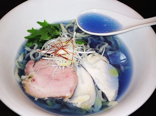 blue ramen: Blueramen, Soups, Colored Soup, Blue Ramen, Food, Beautiful, Anti Aging Blue