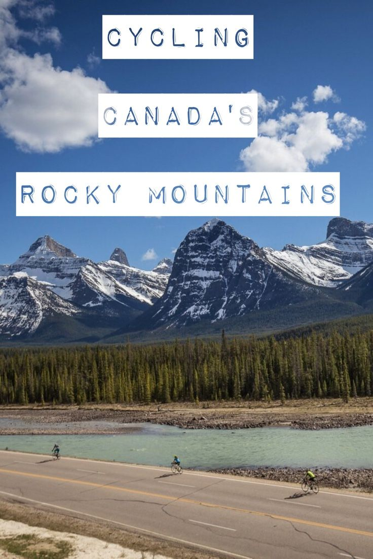 Cycling one of the most beautiful roads in the world. Canada's Icefields Parkway