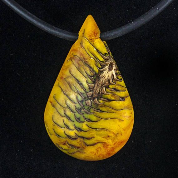 Fir Cone Resin Necklace