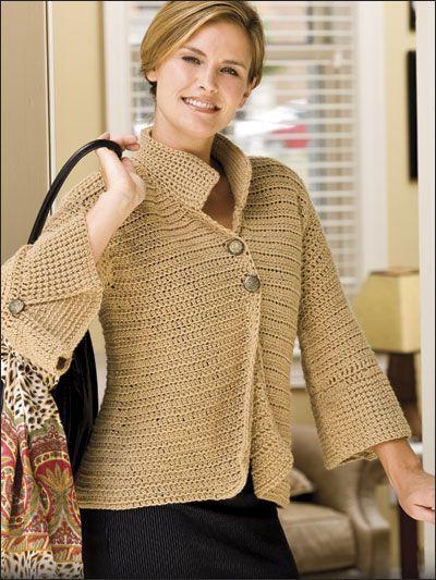 The Bottom Line crocheted cardigan - Free Crochet Pattern
