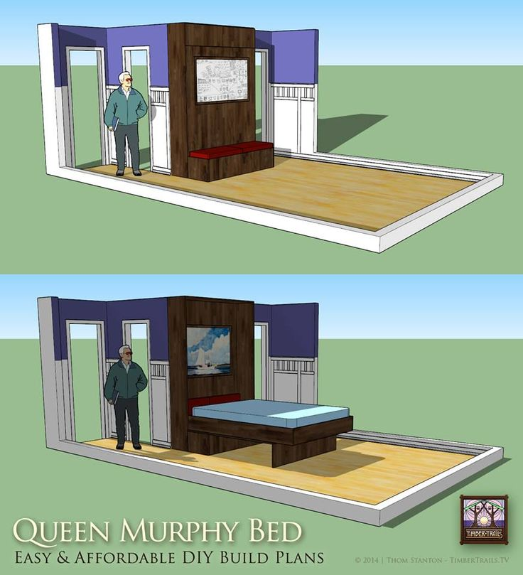 Tiny Home Designs: 17 Best Images About Murphy Bed Photos And Plans On