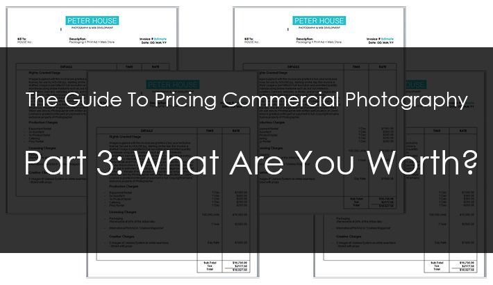 Commercial Photography Pricing - calculating what to charge per day for photography