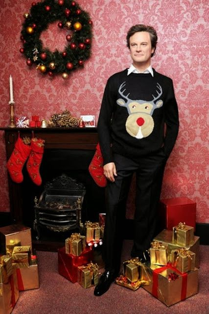 She Who Seeks: Colin Firth in his Mark Darcy reindeer jumper from Bridget Jones Diary.
