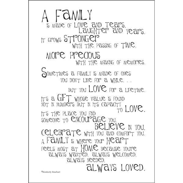 poem about my family | VERSE49-E Family - Poem for a Page - Stickers - Scrapbooking | it ...