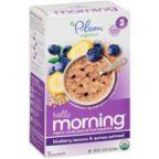 Plum Organics Hello Morning Stage 3 Blueberry, Banana, & Quinoa Oatmeal Baby Food, 0.6 oz, 5 count (Pack of 6)