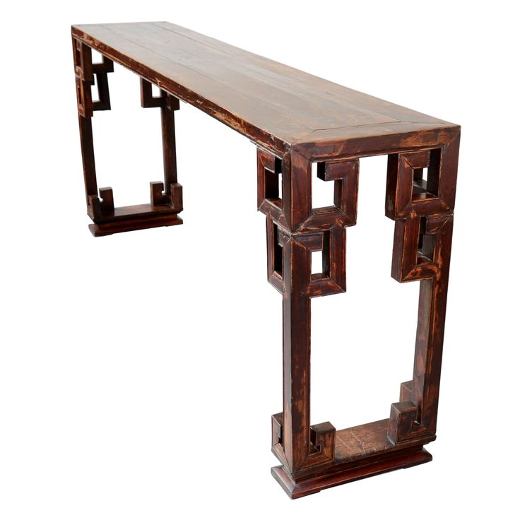 19th Century Chinese Walnut Console